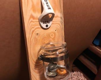 Plank bottle opener