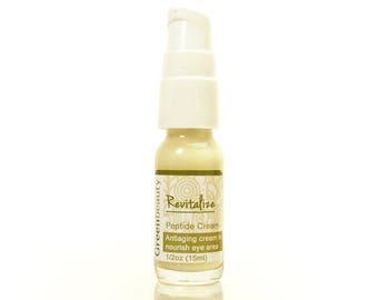Anti Aging Peptide Cream, 1/2oz, peptide serum, face moisturizer, face cream, face serum for under-eye area, eye cream, peptide moisturizer