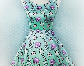Oracle, Skater Dress, Pastel Goth Clothing, Fairy Kei, Pastel Grunge, Kawaii, Aesthetic, Plus Size