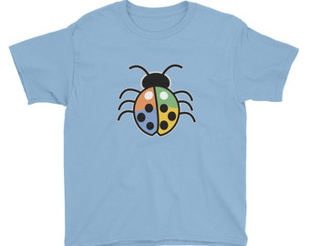 Youth Colored Lucky Ladybug Short Sleeve T-Shirt