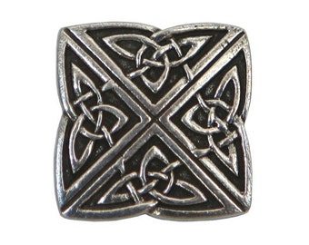 Danforth Celtic Knot 3/4 inch ( 19 mm ) Pewter Shank Button