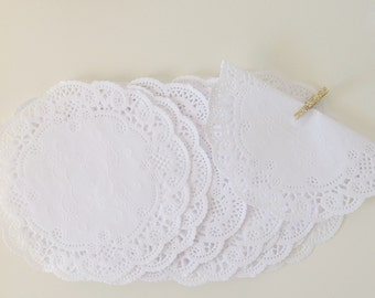 100 set 5 inch inches French Lace Round Paper Doilies Doily