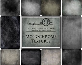 10 High Res Fine Art Digital MONOCHROME Textures / Overlays Set 1