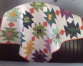 Aztec Southwest Design Lap Quilt Or Table Topper