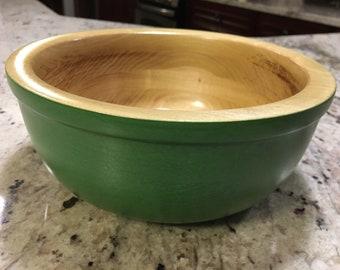 Green wood bowl