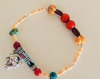 Dog Loss Charm Bracelet Dog Memorial Bracelet Native American Style  Dog Bracelet Pet Loss Jewelry Loss of a Dog Gemstone Dog Owner Gift