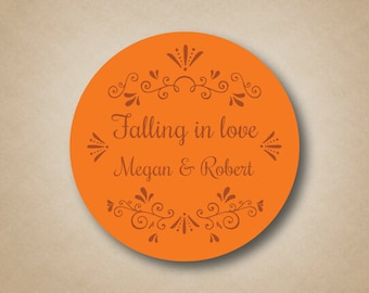 Fall Wedding Favors Falling in love stickers Autumn Wedding Favor Fall Wedding Sticker Fall in Love Stickers Favor Labels Fall Wedding Ideas