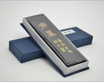 Free Shipping Chinese Calligraphy Material  Hu Kaiwen Pine Soot Ink Stick Ink Block / TZQM (Specialty  Blue Ink) - 62g- 0002P