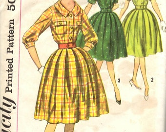Simplicity 3555 Misses' One-Piece Dress Sewing Pattern 34 Bust