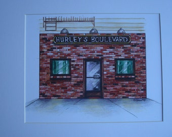 Hurley's Boulevard, by Karen Paciullo, 2014, Throggs Neck, Bronx, NY, ready to frame art print