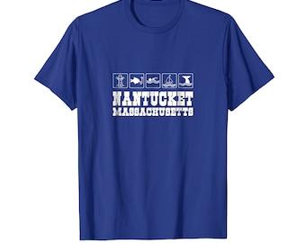 Massachusetts T Shirt - Massachusetts Tee Shirt - Nantucket Shirt - Nantucket Top - MA State Shirt - Nantucket Massachusetts