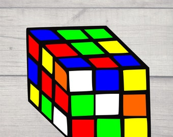 Rubix Cube SVG and JPG file! Cut with the Cricut