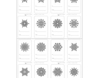 Snowflake Gift Tag Solan Annafora Co