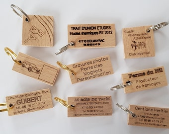 100 wooden advertising key ring