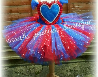 Spiderman inspired tutu dress