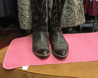 Tony Lama Worn Brown Leather Cowboy Boots