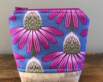 Small Essential Oil Pouch - Anna Maria Horner Echinacea Flower In magenta