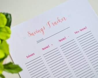 Savings Account Tracker, Savings Printable, Budget Binder Printable, Finance Printable, Budget Printable, Account Manager, Household Account