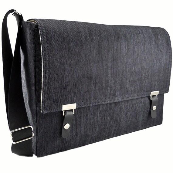 New 15 MacBook Pro messenger bag dark blue denim YP26