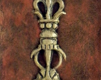 Phur-Bu - Cast Paper - Tibetan - Indian - Ritual Dagger
