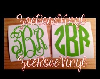 """2"""" Vinyl Monogram (Interlocking or Circle)"""