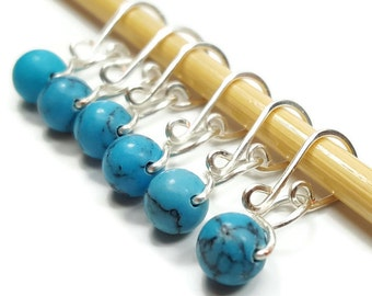 Stitch Markers Crochet - Turquoise Melody - Stitch Markers - Small, Medium, Large, or XL