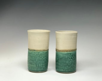 Green Ivory color vases