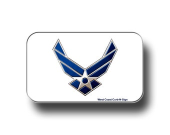 Reflective Vinyl Car Decal, 3x5 inch (Air Force Logo)