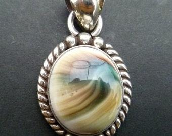 Sterling Silver Shell Pendant - Handmade Silver Shiva Eye Pendant - Custom Made Pendant