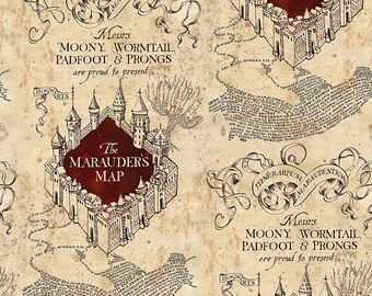 MARAUDER'S MAP for Harry Potter Fans, Custom Men or Women's's Boxers, Made to Order, Moony, Wormtail, Padfoot, Prongs, Choose Size