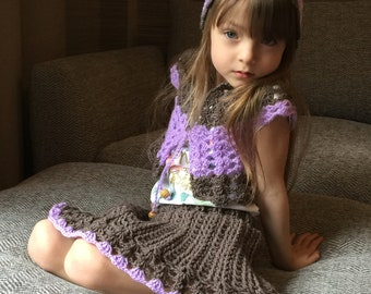 Two tone Vest and Skirt girls 3-6 years