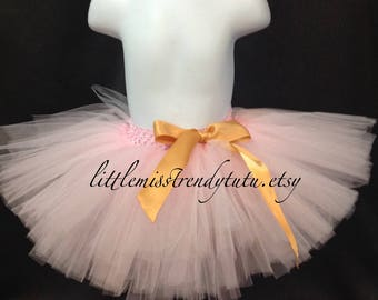 Light Pink Tutu Skirt, Pink Tutu Skirt, Girls Pink Tutu, Children's Tutu Skirts, Light Pink Newborn to 6T Tutu, Light Pink Tutu, Blush Tutu