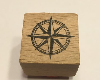 small compus rubber stamp, 22 mm (BB1/4)