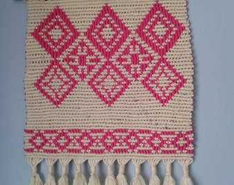 Handmade Large Wall Hanging Macrame With Color Ornament Gifts Presents Wedding Graduation Birthday Anniversary