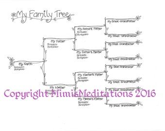 My Family Tree - Vine and Flower