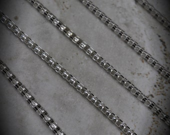 4 FT Silver Plated Mesh Chain