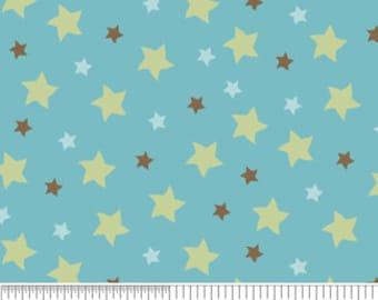 Mod Tod Blue Stars by Sherri Berry Designs for Riley Blake, 1/2 yard