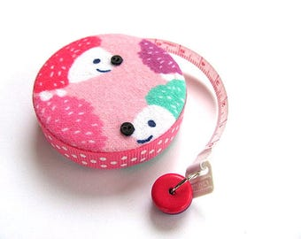 Tape Measure Hedgehogs in Pastels Retractable Measuring Tape