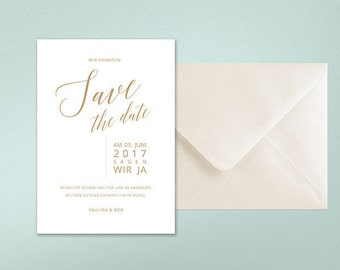 Wedding Save-the-date cards, minimalist, modern, noble, graphic design, typography, calligraphy