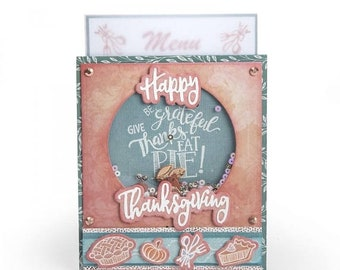 Mothers Day Special: Sizzix Framelits Die Set 8PK w/Stamps - Give Thanks, Eat Pie by Lindsey S 662272