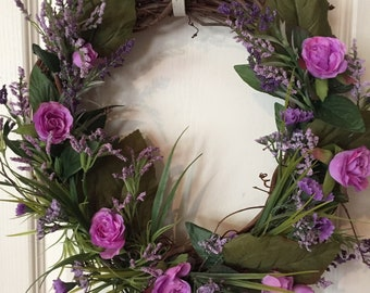 Lavender and Roses Wreath....FOR MOTHER'S DAY or just because.....