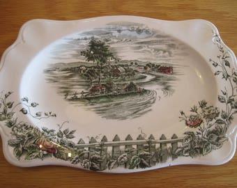 "Johnson Bros ""The Road Home"" Tray/Platter - Item #1596"