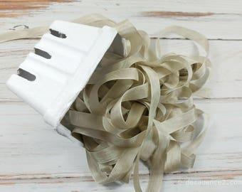 5 yards Mushroom Seam Binding. Packaging, Scrapbooking, Shabby Pretty Embellishment