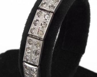 1920s - Original Art Deco Clear Paste Bracelet by ALL Co.