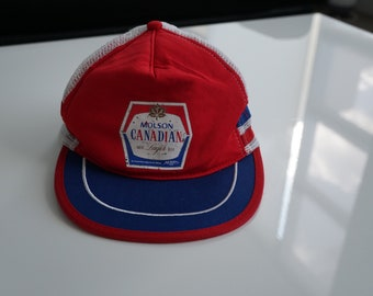 Vintage Molson Canadian Hat - Vintage Trucker Hat with Mesh Back and Snapback