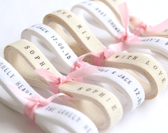 Bespoke Ribbon - Twill Ribbon / 6 Yards Personalized Wedding Favors twill ribbon . Custom Personalized Ribbon . personalised ribbon
