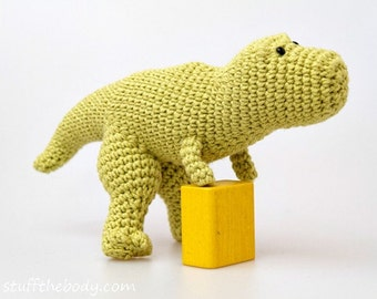 Tyrannosaurus Rex Dinosaur Crochet Pattern, T-Rex Amigurumi Pattern, toy pattern, baby shower, birthday present, for boys, montessori