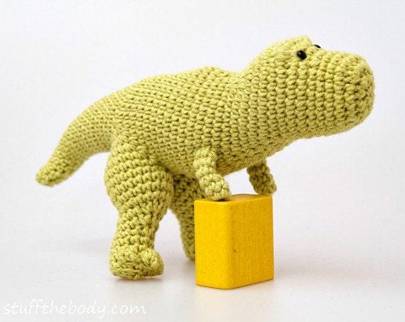 Tyrannosaurus Rex Dinosaur Crochet Pattern T-Rex Amigurumi