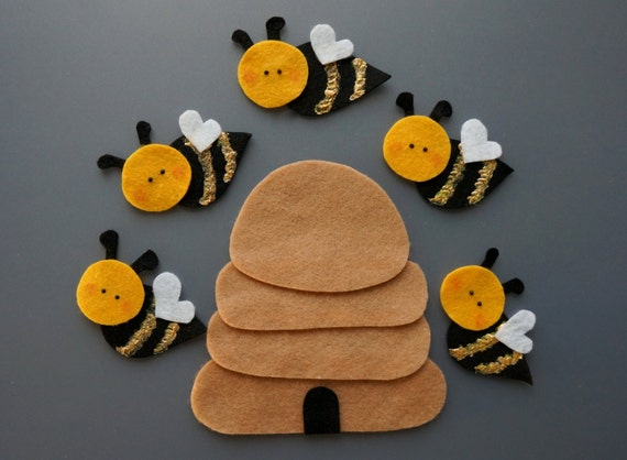 Image result for 5 little bees