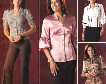 Simplicity 2732 Womens Threads Magazine Collection Boho Blouses OOP Sewing Pattern Size 6 8 10 12 14 Bust 32 34 36 Inches UNCUT Factory Fold